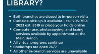What does the COVID-19 Shutdown mean for your library? Both branches are closed toin-person visits Curbside pick-up (http://tpl.timmins.ca/curbside-pickup/) is available – call 705-360-2623ext. 8519 or place your holds online […]
