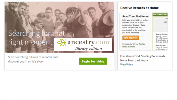 In response to COVID-19, Proquest is offering free remote access to Ancestry Library Edition to registered library patrons. To get access, you'll have to click on the following link : […]