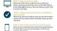 Place items on hold with your library card and pick up when ready! STEP 1: Place an item on hold Place your holds online at tim.ent.sirsidynix.net with your library card […]