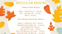 Regular hours (Sept. – mid June) Timmins Main Branch Mon – Thu 10 a.m. – 8 p.m. Fri – Sat 10 a.m. – 5 p.m. Sun 1– 5 p.m. […]