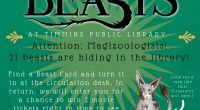 From November 1st – 15 the hunt is on! 21 beasts will be hiding around the library at the Main Branch. Find 1 Beast Card and return it to the […]