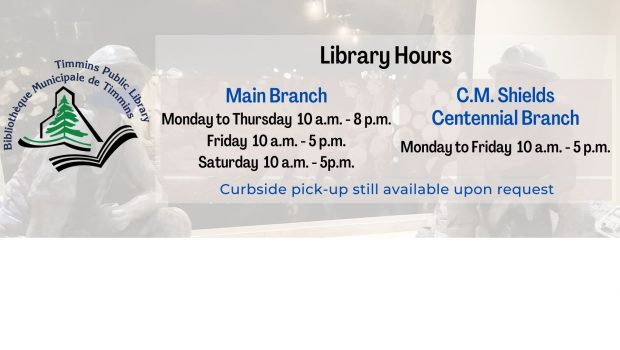 Library Hours Main Branch (Curbside pick-up available) Monday to Thursday 10 am – 8 pm Friday 10 am – 5 pm Saturday 10 am – 5 pm C.M. Shield Centennial […]