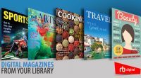 RBdigital for Libraries, offers full-color, digital magazines for immediate checkout and reading online on desktop and mobile devices — or download through apps