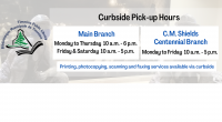 Library Hours Main Branch (Curbside pick-up available) Monday to Thursday 10 am – 6pm Friday 10 am – 5 pm Saturday 10 am – 5 pm C.M. Shield Centennial Branch […]