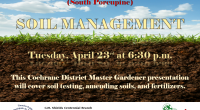 Join us at the C.M. Shields Centennial Branch to learn about Soil Management.  It's not too early to start thinking about gardening. Our presenters, from the Cochrane Master Gardeners, will […]