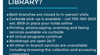 WHAT DOES THE STAY-AT-HOME ORDER MEAN FOR YOUR LIBRARY? Both branches […]